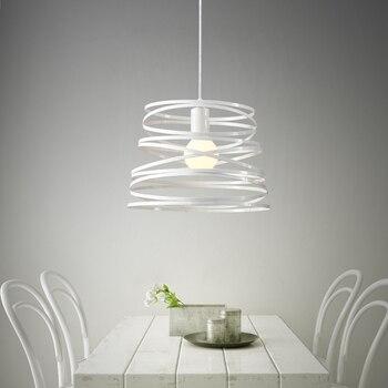 Simple modern artistic  Iron ripple wave Chandelier balcony aisle restaurant table Bar Cafe lamp