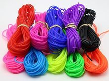 100 Meter 2mm Soft Hollow Rubber Tubing Jewelry Cord Cover Memory Wire 10 Color