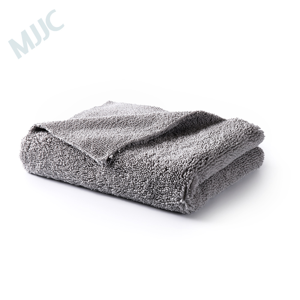 MJJC 40X40CM Edgeless Plush Microfiber Towel For Polishing   Microfiber Drying Towel Car Waxing Polishing
