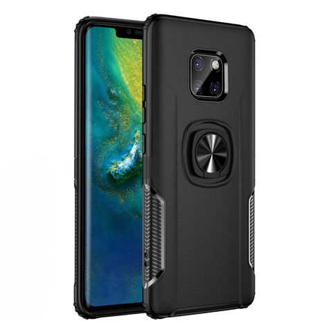 Shockproof Armor Case For Huawei Mate 20 Lite Finger Ring Holder Stand Magnetic Bracket Back Cover Huawei Mate20 Lite Case On Lahore