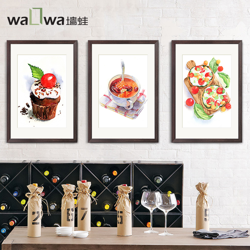 The delicious food of four modern minimalist wall frog restaurant dining room restaurant painting decorative painting art painti