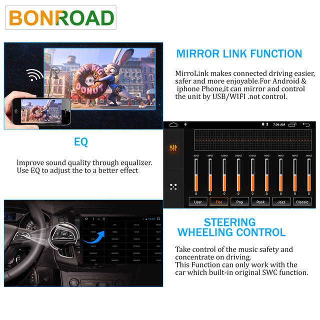 US $138 84 25% OFF|Bonroad 2DIN 7 inch Car Multimedia Player Universal  Radio Car Stereo Audio MP5 Player Audio Stereo Multimedia  MP4/MP5/FM/USB/AUX-in