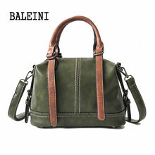 BALEINI Solid Women Pillow Handbag Soft PU Leather Women Top-Handle Bag Tote Shoulder Bag Large Capacity Single shoulder bag(China)