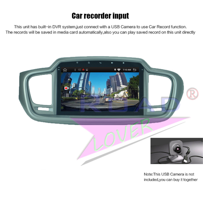 car navigation touch screen panel For KIA Sorento 2015