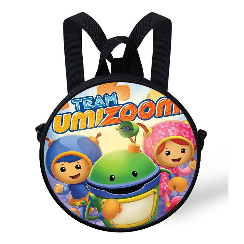 New Fashion Team Umizoomi Print Round Bag For Kids Cartoon Backpack Boys Girls Preschool Baby Kindergarten