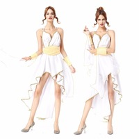 CFYH 2018 New Hot Selling Sexy Adult Halloween Women Costume Greek Goddess Costume Cute Roman Princess Costume