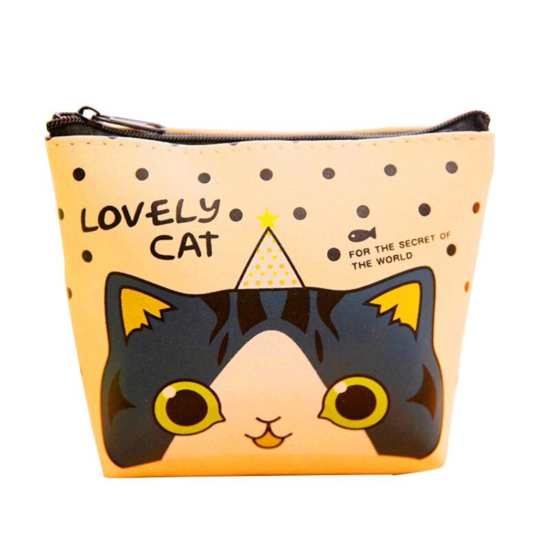 Мода прекрасный кот шаблон наушники сумки Мини Kawaii Упаковка PU Сумка наушники коробка Женщины кошелек для подарка Подвески Y08