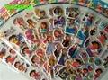 HAPPYXUAN 8 hojas/lot Puffy Pegatinas de Dibujos Animados Dora Strawberry Princess Juguetes para Niños Chica 21*7.5 cm
