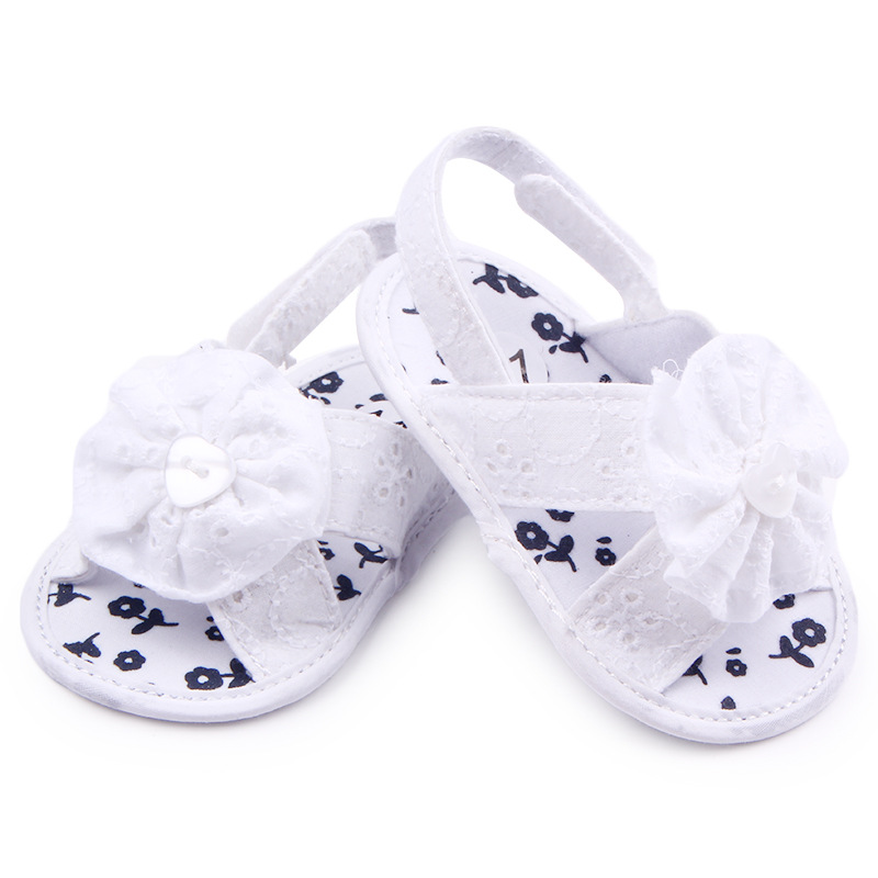 Sweet Baby Girl Summer Shoes First Walker Infant Toddler Girls Kids Shoes Big Flower Newborn Baby