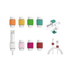10 Color 2 Pcs/lot USB Cable Protector Data Cord Protection Cover Winder for iPhone 5 5s 6 6s 7 8 plus X