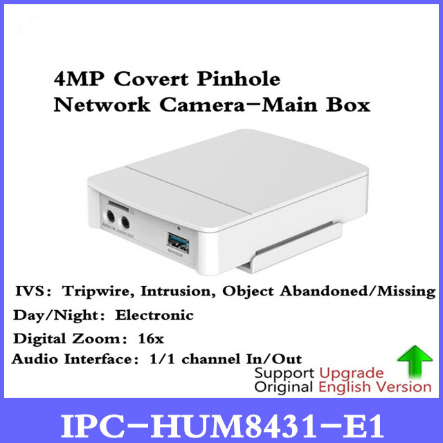 DH 4MP Poe Covert Pinhole Camera Main Unit IPC-HUM8431-E1 H.265 Support Smart detection and SD Card Metal case 4mp poe dahua covert pinhole camera main unit ipc hum8431 e1 h 265 support smart detection and sd card metal case