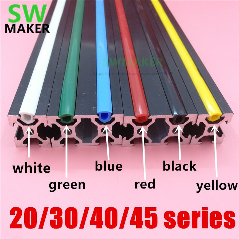 SWMAKER 1meter 20/30/40/45 Series 6mm/8mm/10mm Flat Seal For EU Aluminum Profile Soft Slot Cover/Panel 3D Printer C-Beam Machine