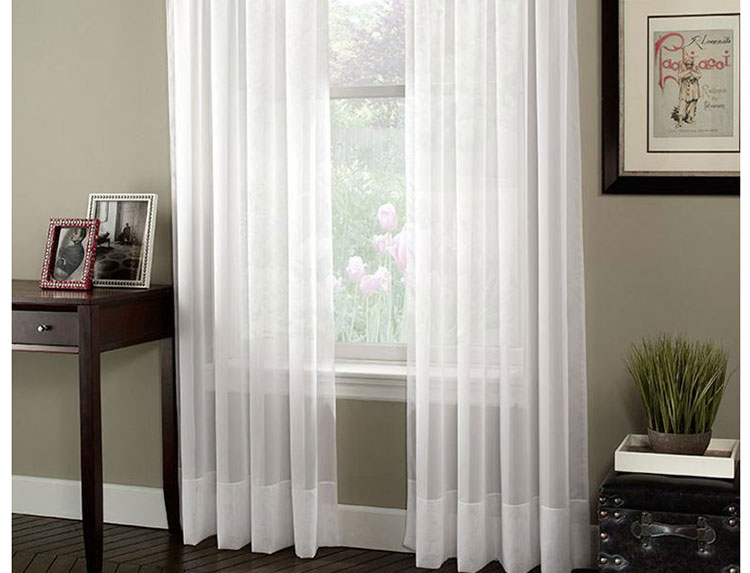 Aliexpress.com : Buy free shipping white sheer curtains for living ...