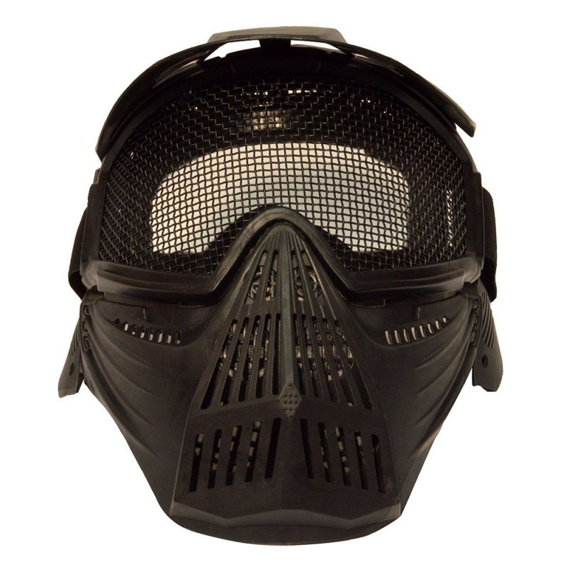 Metal Mesh Goggles Protection Tactical Airsoft Pro Full Face Mask with Safety