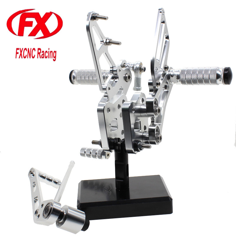 For SUZUKI GSXR600 750 K6 2006 - 2010 Aluminum CNC Adjustable Motorcycle Rider Rear Sets Rearset Footrest Foot Pegs merchandise display base 360 degree electric rotary table display for photography 25cm automatic revolving platform handicraft