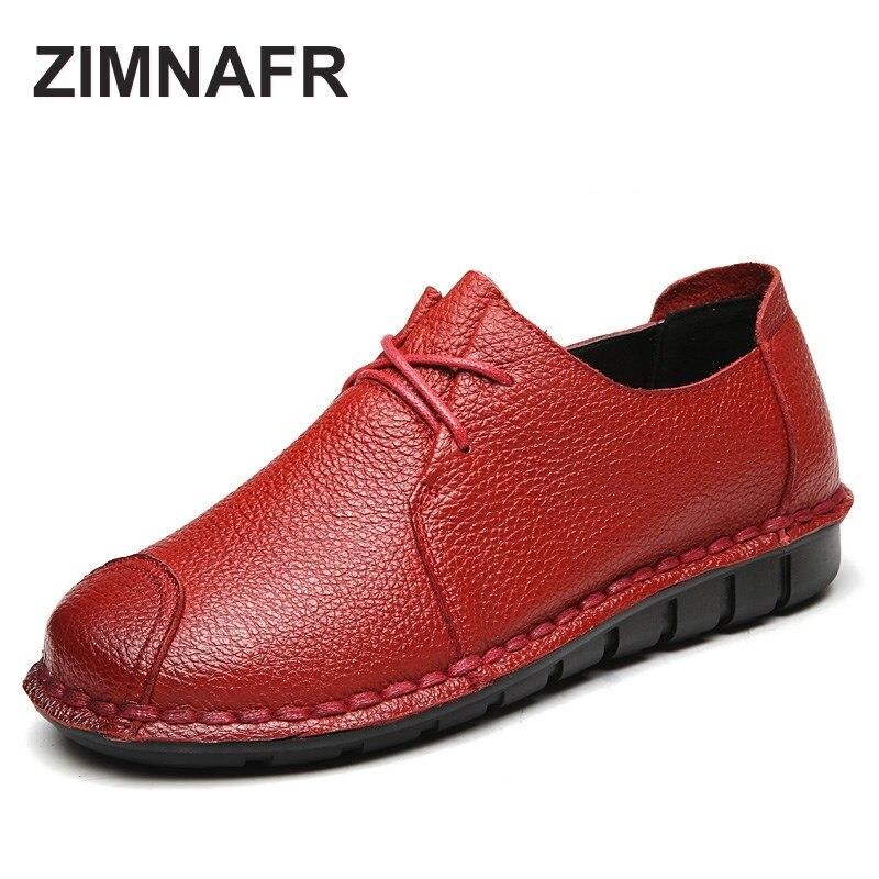 2017 zimnafr brand original flats genuine leaterh