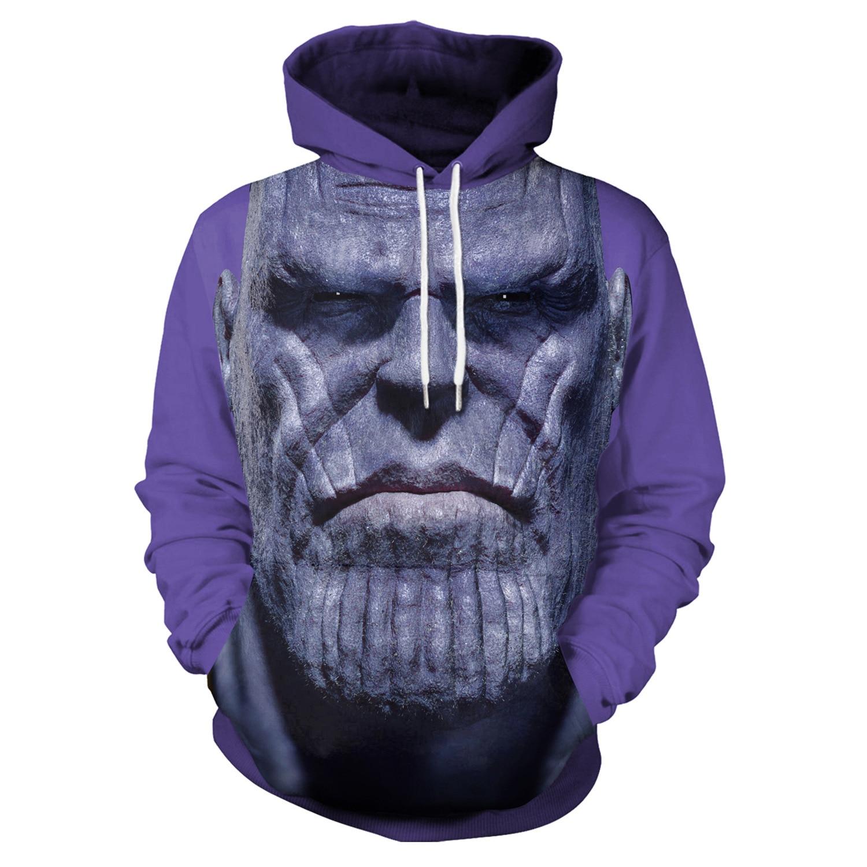Hoodies Extinguish Print Purple Hoodies with Hat Men Hoodie Loose Hooded Sweatshirt Streetwear Sudaderas Para Hombre Winter