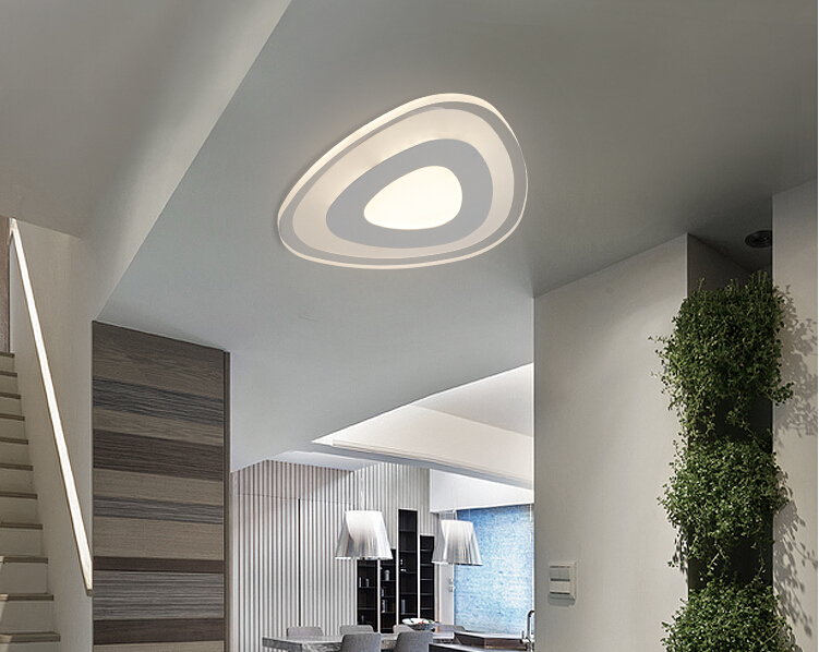New ultra thin modern led ceiling lights creative acrylic lamp home