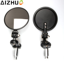 Universal 7/8 inch Rearview Mirror Motorcycle Handlebar end mirrors motor Aluminum alloy Side Mirrors For Honda Yamaha KTM BMW