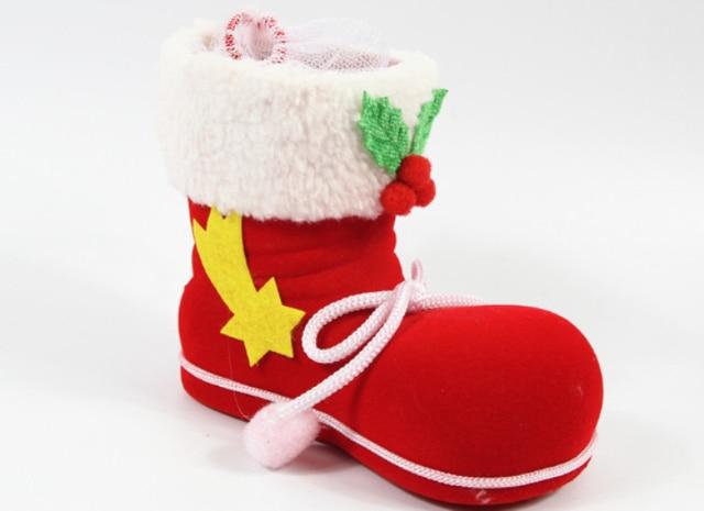 Media de la navidad del caramelo botas de papá noel Socking bolsos niños  regalo de la de74ba409910f