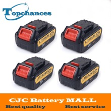 4PCS High Quality 20V 4 0Ah 4000mAh Power Tools Batteries Replacement Cordless for Dewalt DCB181 DCB182