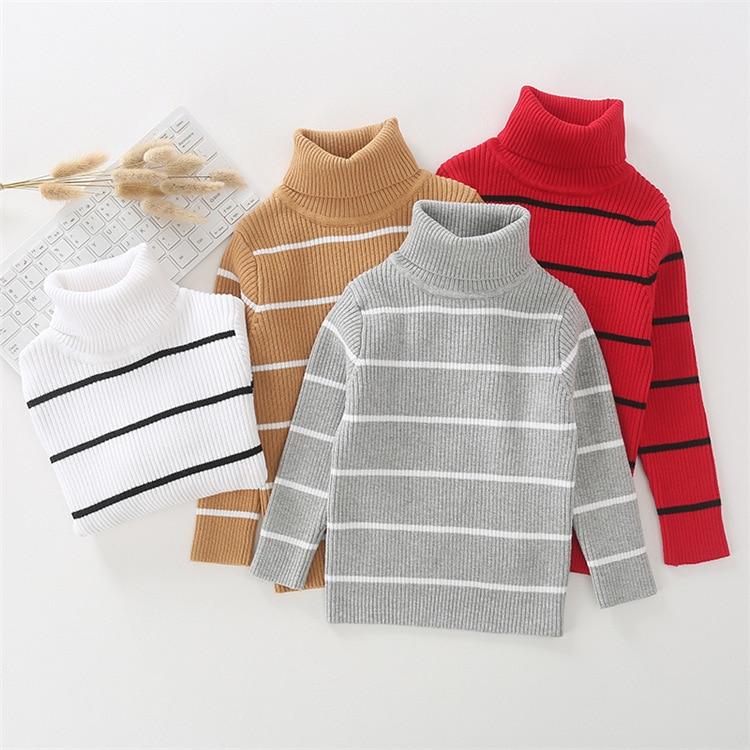 moda 1 6y listra quente camisola do bebe cor solida algodao meninos camisolas pollover respiravel macio