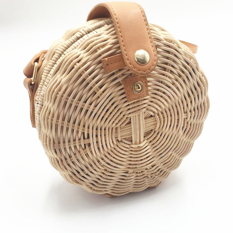 Women Straw Bag Bohemian Bali Rattan Beach Handbag Small Circle Lady Vintage Crossbody Handmade Kintted Shoulder Bags SS0371Women Straw Bag Bohemian Bali Rattan Beach Handbag Small Circle Lady Vintage Crossbody Handmade Kintted Shoulder Bags SS0371