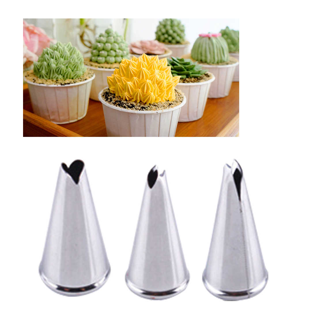 Promotions  1 PC Leaves Nozzle Stainless Steel Icing Piping Nozzle Pastry Tips Cake Decor Tool
