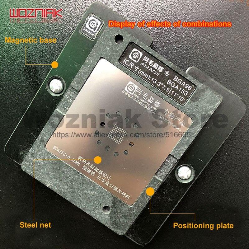 Возняк DDR олово завод BGA96 BGA153 Магнитная платформа ЖК-экран Смарт ТВ DDR 2/3/4/ремонт микросхем стальная сетка