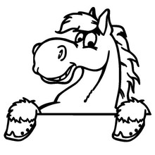 Car- stying  15*14CM Cute Cartoon Horse Fashion Vinyl Car Sticker Decoration Decorative Art sticker Jdm