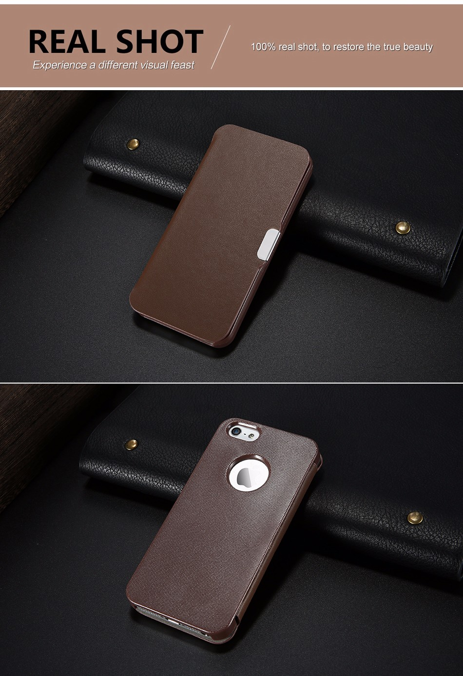 leather case for iPhone 5 6 (7)