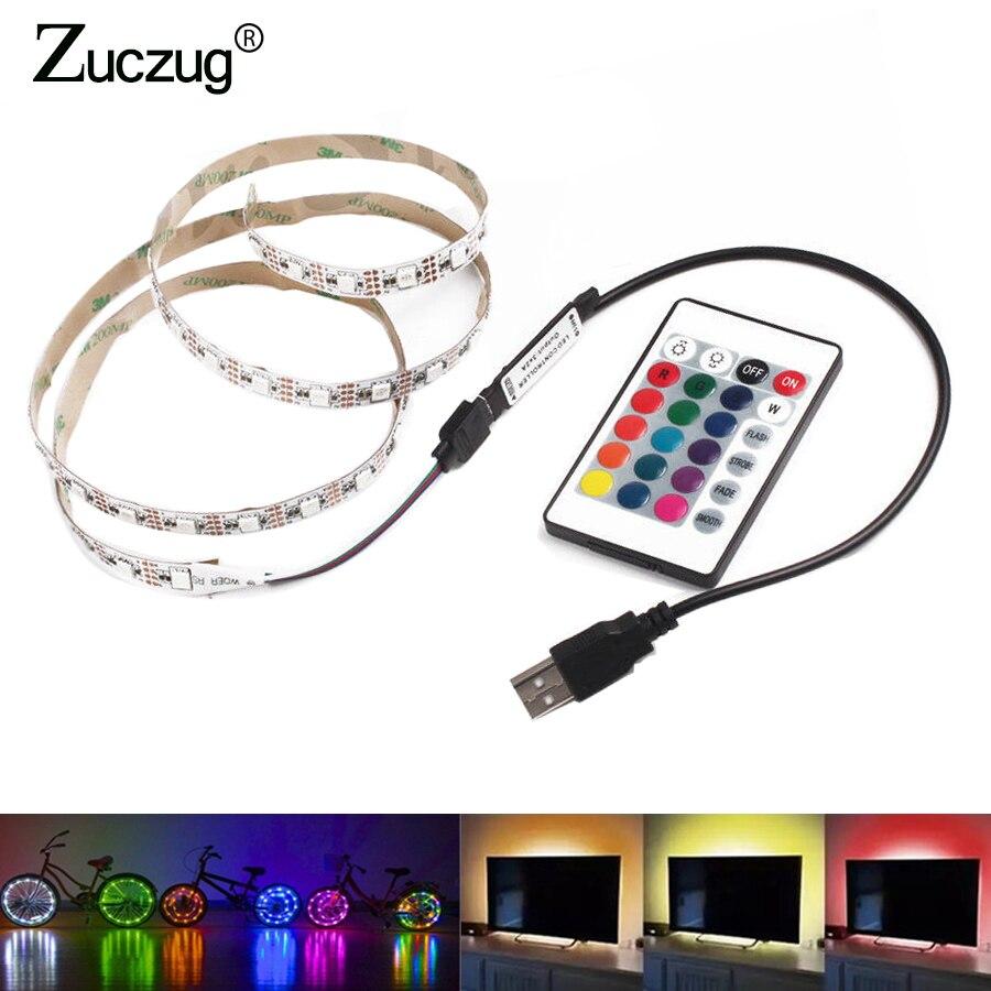 5 v LED Strip USB 5V TV backlight 2835 50cm 1 2 3 4 5 m Light Lighting with IR control For Desktop PC Lamp Tape Diode Ribbon osc 5032 1m 1mhz 1 000mhz 5 3 2 3 3v 5v