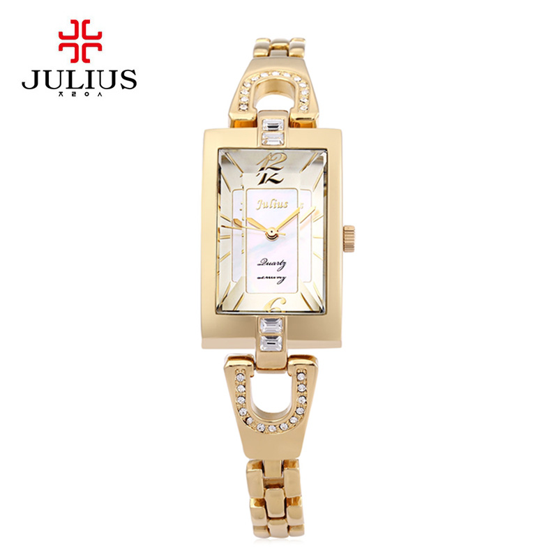 Watch Women Julius Brand luxury Fashion Casual Female Quartz Unique Stylish Watches Leather Lady Bracelet Wristwatches Relogios