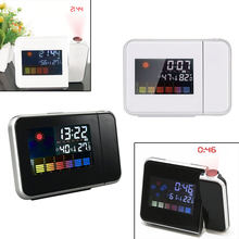 1 PC Jam Alarm Digital dengan Layar Proyektor Waktu Proyeksi Clock Multi-Fungsi Cuaca Kalender Time Desktop Clock(China)