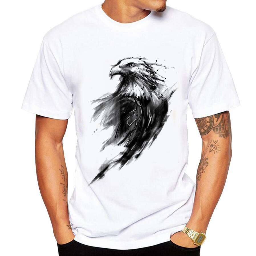 Summer Casual Men's   T  -  Shirt   Funny Print Eagle Eye   T  -  Shirt   Brand Fashion   T     Shirt   Men Short-Sleeve Top Tee   Shirt   Homme Size 5xl