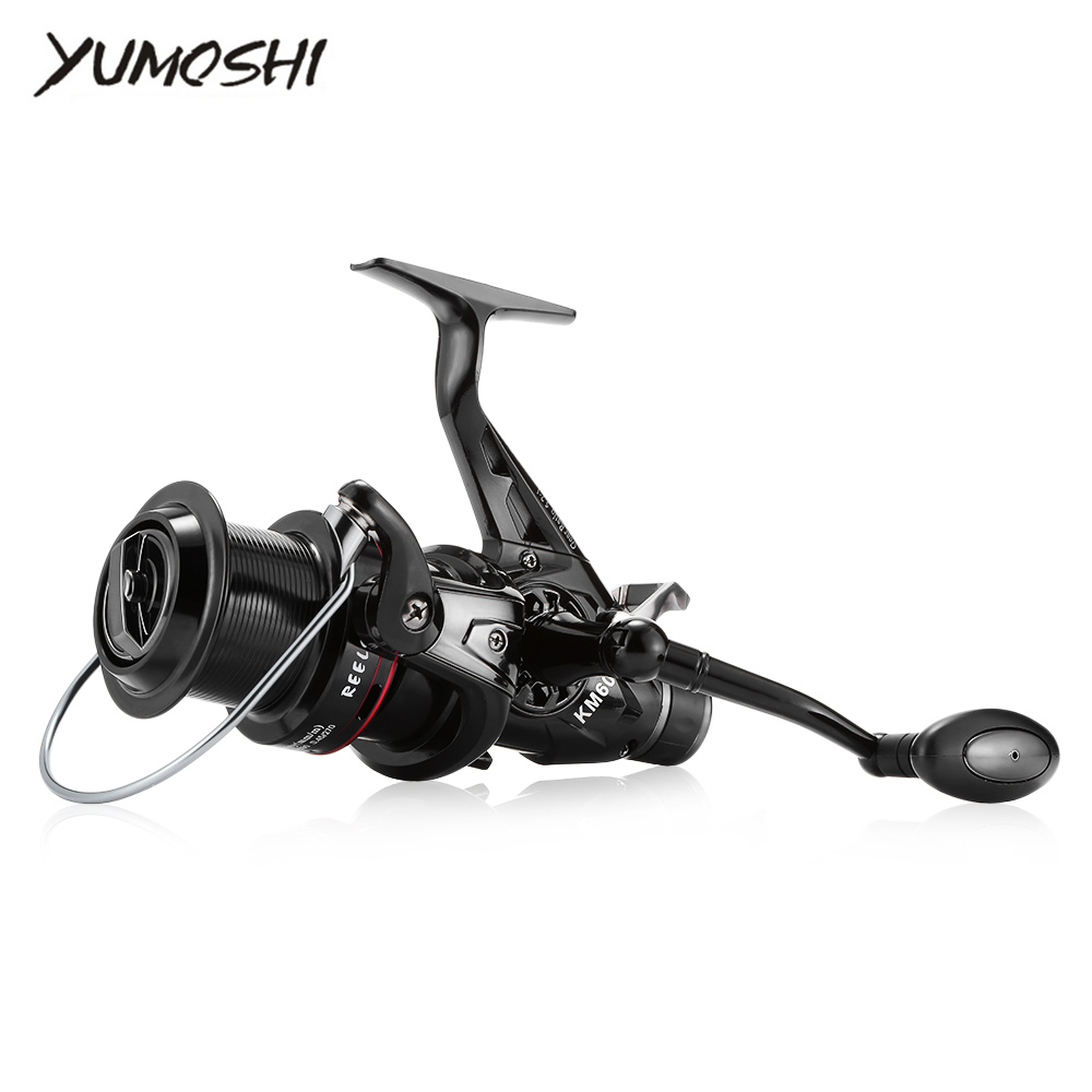 YUMOSHI KM50/60 5.2:1 Gear Ratio Full Metal Fish Spinning Reel Fishing Reels Wheel Spinning Trolling Boat Saltwater цена 2017