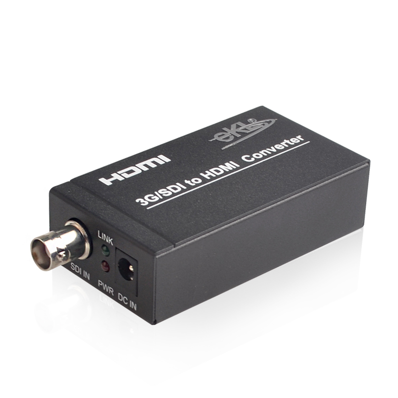 EKL SDI to HDMI Converter HD Adapter 3G /SD/HD-SDI Signals to HDMI Support 1080P with Power Adapter
