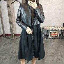 2019 New Fashion Genuine Sheep Leather Dress Y10