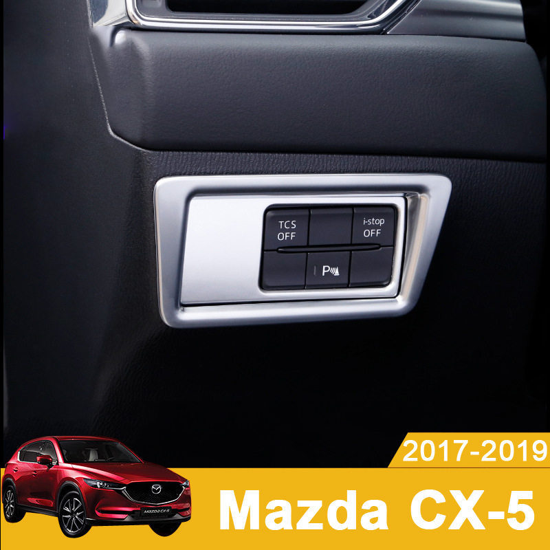 Car Headlight Switch Sequin Headlight Adjust Cover Trim <font><b>Interior</b></font> Mouldings For <font><b>MAZDA</b></font> <font><b>CX</b></font>-<font><b>5</b></font> CX5 <font><b>CX</b></font> <font><b>5</b></font> 2017 <font><b>2018</b></font> 2019 <font><b>Accessories</b></font> image