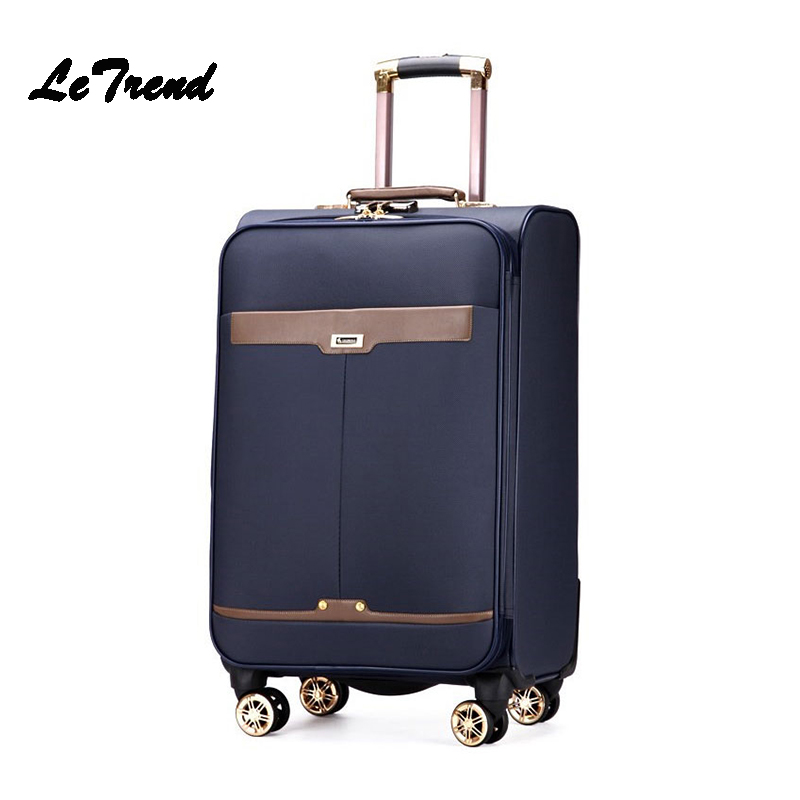 Letrend Rolling Luggage Spinner Trolley Suitcases Wheels Business Travel Bag 16/20 inch Student Password Carry On Luggage Trunk 20 26 vintage travel trolley luggage suitcase with combination lock rolling luggage suitcases with spinner wheels