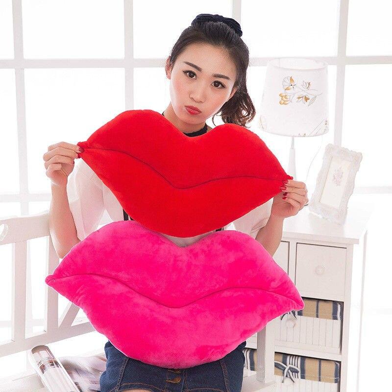 HTB1Y9NEbHsTMeJjSszhq6AGCFXaq 30cm Creative Pink Red Lips Shape Cushion Home Decorative Throw Pillow Sofa Waist Cushion Home Textile Cushion