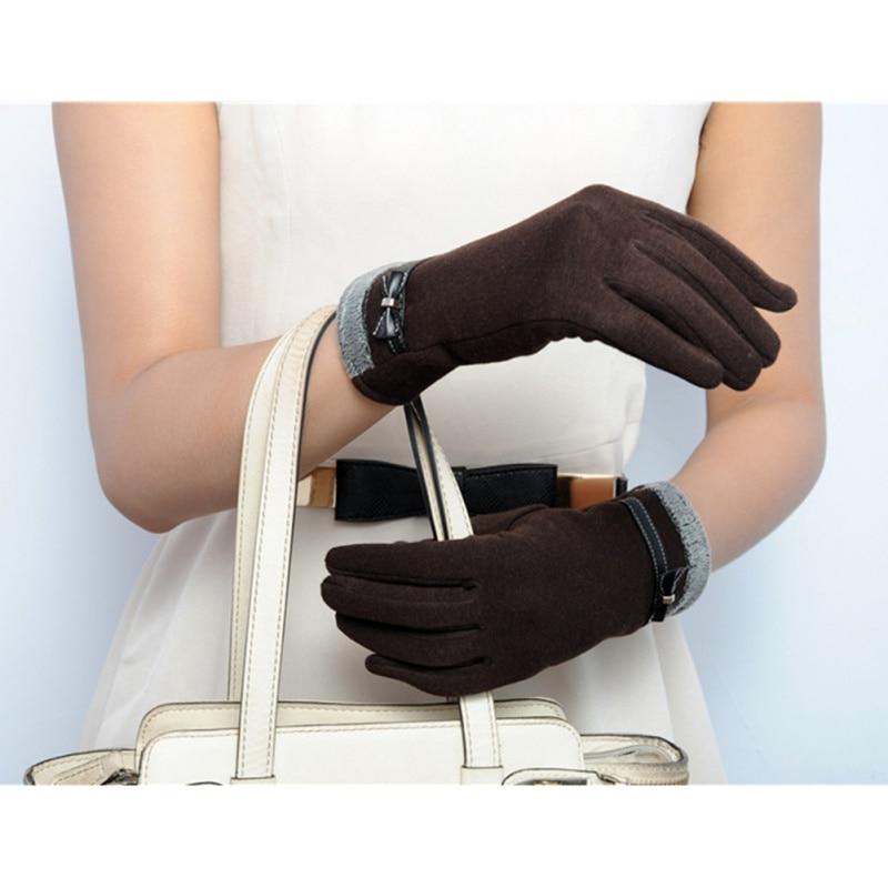Liberaal Nieuwe Leuke Vrouwen Klik Gevoel Screen Gebreide Pols Handschoenen Wanten Bowknots Bloem Korte Handschoenen