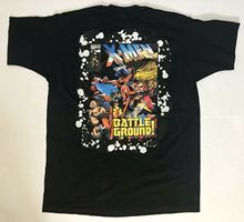 Vintage 90s Marvel X-Men Battle Ground TShirt Men s X-Large Made in USA Male Pre-Cotton Clothing 100% Cotton