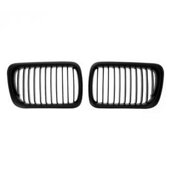 1 Pair Matte Black Car Front Grille Bumper Racing Grills for BMW E36 318i 320i 323i 325i 328i 1997-1998 Auto Accessories image