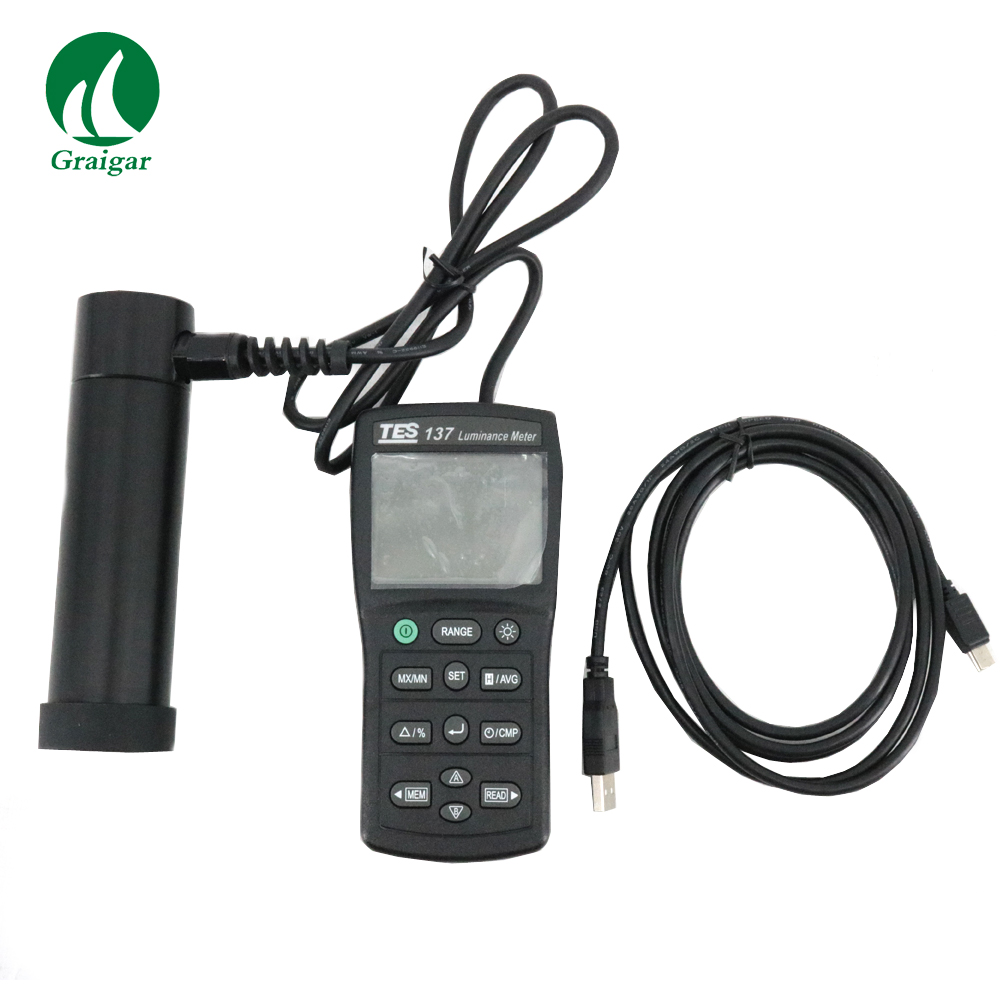 TES 137 Luminance Meter with Dual Display Original from TaiWan LCD Lightness Tester TES137