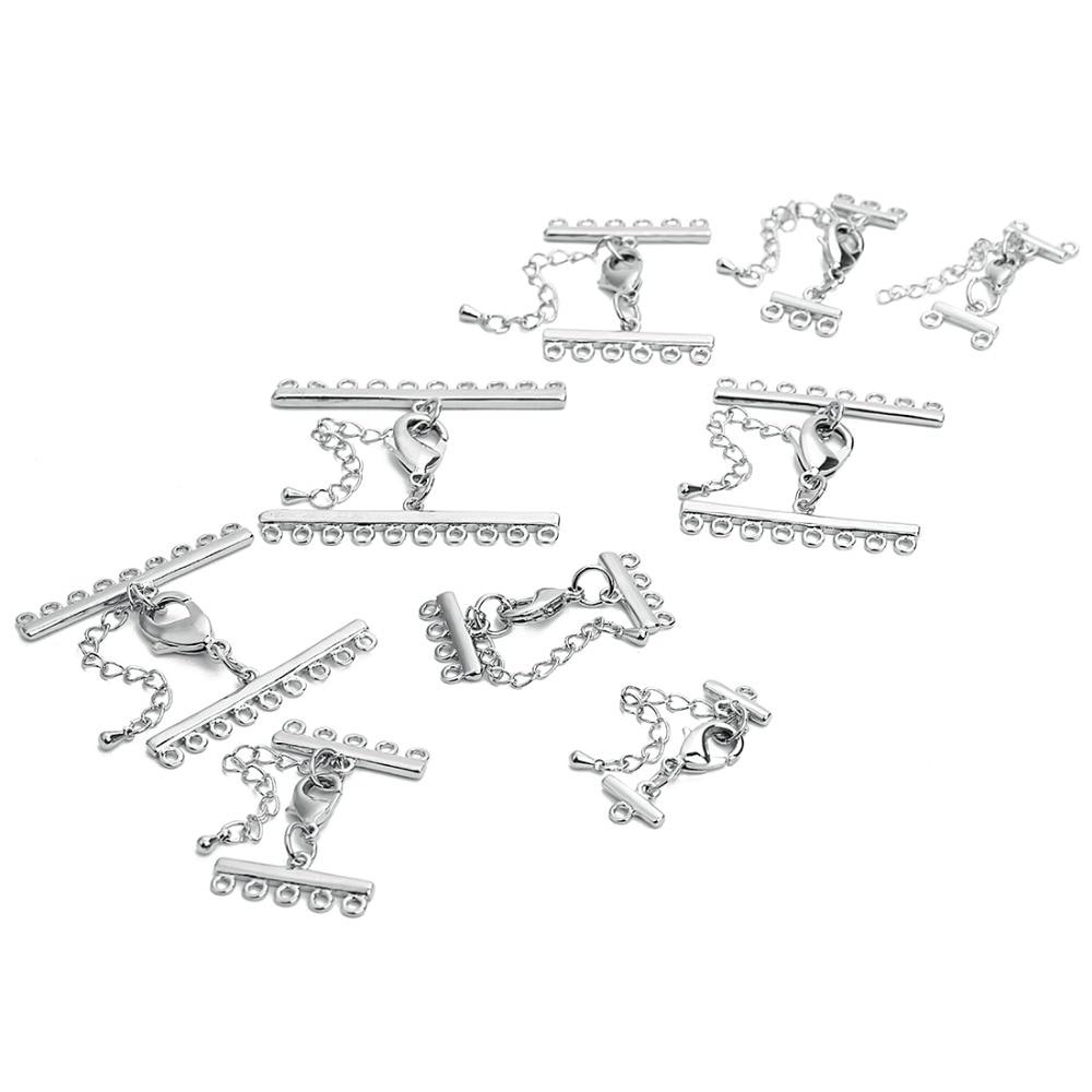 Медная кожаная цепочка шнурок 2 шт зажимы с цепочками для браслетов