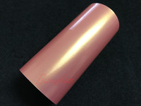 1.52x18m High Quality Magic Pink Glossy Coral Cool Car Wraps Vinyl Colors Design
