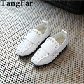New Boys Girls PU Leather Rivet Moccasins Waterproof Children Princess Causal Breathable Loafers