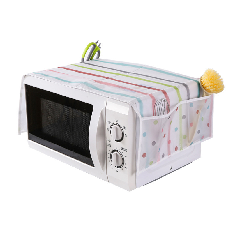 Wholesale PEVA Environmental Microwave Oven Furniture Electrical Waterproof Table Cloth Multi pocket Cover Cloth Storage Bag in Tablecloths from Home Garden