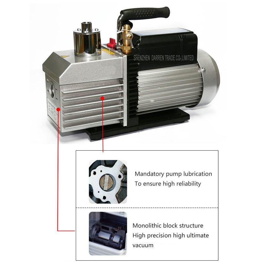 1 PC 100% Nova Marca e de Alta Qualidade bomba de vácuo Dupla voltagem 110 V 220 V 250 W Dupla frequência two stage com 1L - 6